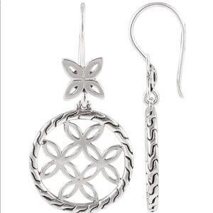 John Hardy Kawung Silver Circle-Drop Earrings